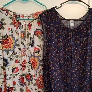 BOGO Old Navy sleeveless blouses XL